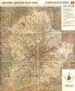 GREATER LONDON PLAN. Motorways arterial ringways roads M25.ABERCROMBIE 1944 map